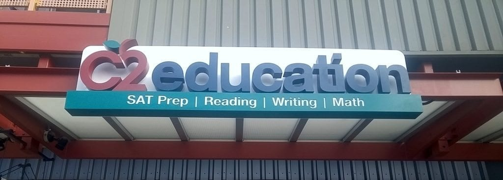 Channel Letter Sign | C2 Education | Sammamish, NY
