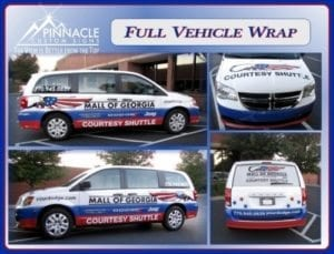 Shuttle Full Vehicle Wrap