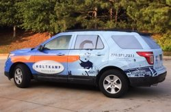 Car Wrap for Holtkamp Heating & Air