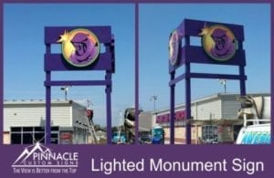 Lighted Monument Sign For Expanding Business
