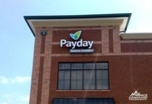 Payday Building Sign