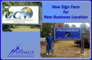 New Sign Face for New Location