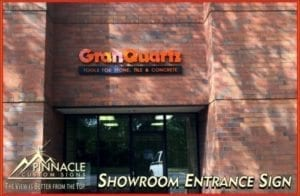 Showroom Entrance Sign