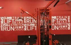 Motivational wall graphics for Anytime Fitness