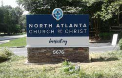 Monument sign for North Atlanta Church of Christ.