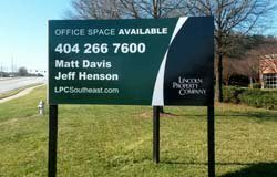 Commercial real estate post sign