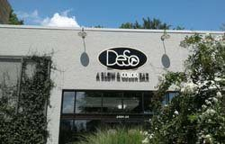 DeSo's building sign with external lighting