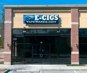 VapeWares.com sign for their new location