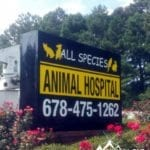 lighted sign cabinet sign for All Species Animal Hospital