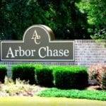 Subdivision sign for Arbor Chase