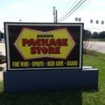 Lighted Sign Cabinet for Brown Package Store