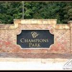 Entrance Sign for Champion's Park