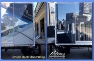 Inside Back Door Wrap on Box Truck