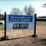 panel and post sign for Kentec