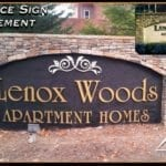 Replacement entrance sign for Lenox Woods