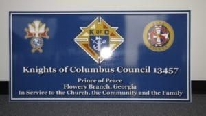 Lobby-Sign-Knights-of-Columbus-Prince-of-Peace