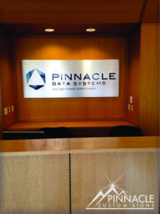 Pinnacle Data System Lobby Sign