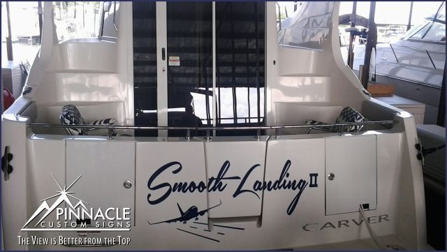 Smooth Landing II Boat Name