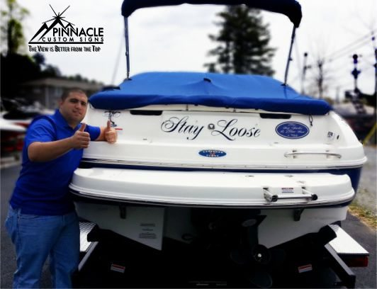 Stay Loose Boat Graphics