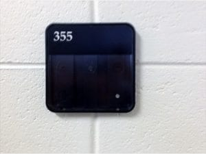 basic room sign with number