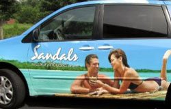 Full vehicle wrap for Sandals