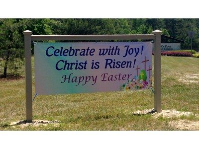 Easter Banner for a church
