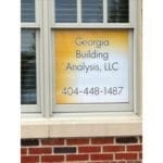 Georgia Building Analysis, LLC window decal