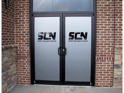SCN frosted vinyl door