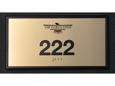 You can customize door signs with your logo