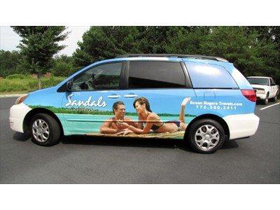 partial mini van wrap for Sandals