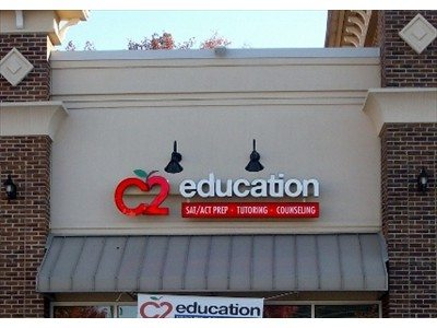 channel letter sign for C2 Education
