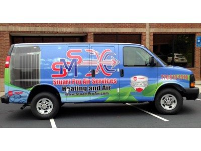 Full van wrap for Stuart Mechanical