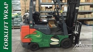 Forklift Wrap - Big Green Egg