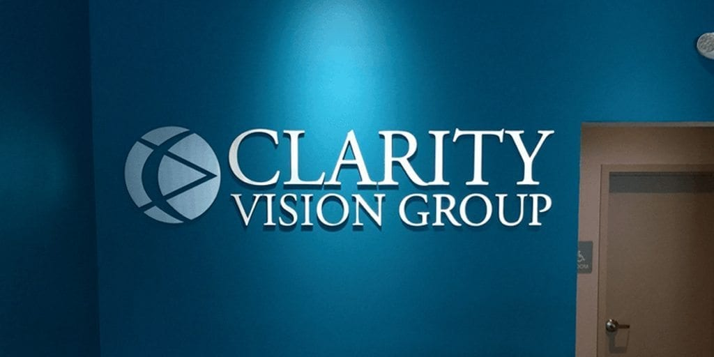 Clarity Vision Group Lobby Sign