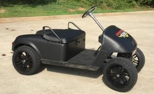 Matte Black Wrap | Golf Cart | Gary Brown Enterprises