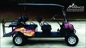 Golf Cart Wrap | Wayback Burgers | Braselton, GA