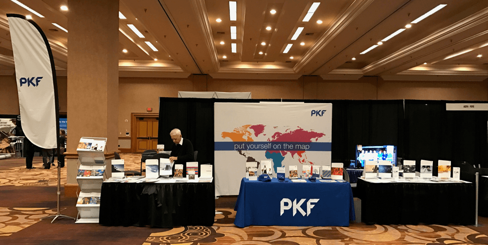 Trade show booth PKF International