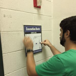 Evaculation Route sign for GSU's Stadium