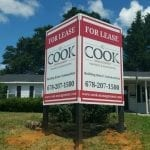 Post and panel signs that has multiple faces to increase visibility from multiple directions.