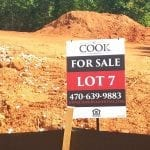 For Sale Sign for a Cook Lot