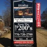 For sale sign for Lake Arrowhead