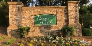 Haynes Creek Subdivision Sign
