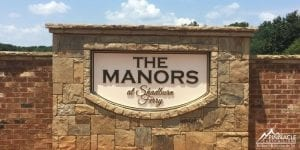 The Manors Subdivision Sign