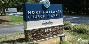 North Atlanta Church of Christ Sign