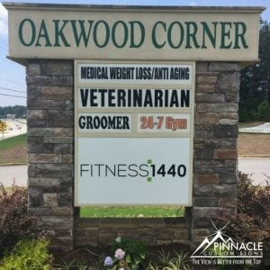 Oakwood Corner Shopping Center Sign