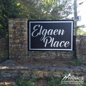 Elgean Place subdivision sign