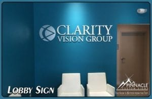 Clarity Vision Group's new logo sign