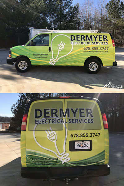 Van graphics for Dermyer Electrical Services