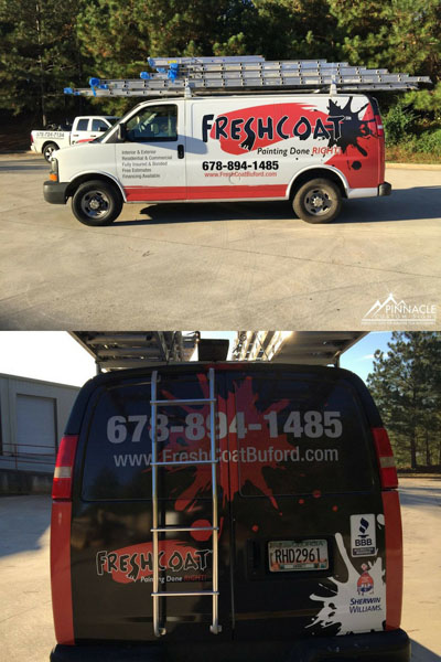 Van wrap for Fresh Coat Buford