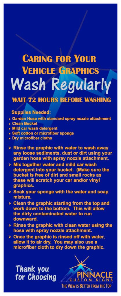 How to wash your vehicle wrap